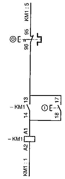 schematic diagram of a dol electric motor control ckt circuit