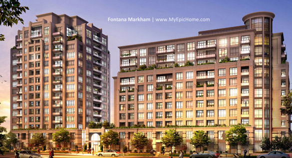 Fontana Markham Condos, Final Phase For Sale