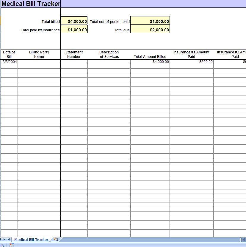 medical expense spreadsheet templates - Onwebioinnovate