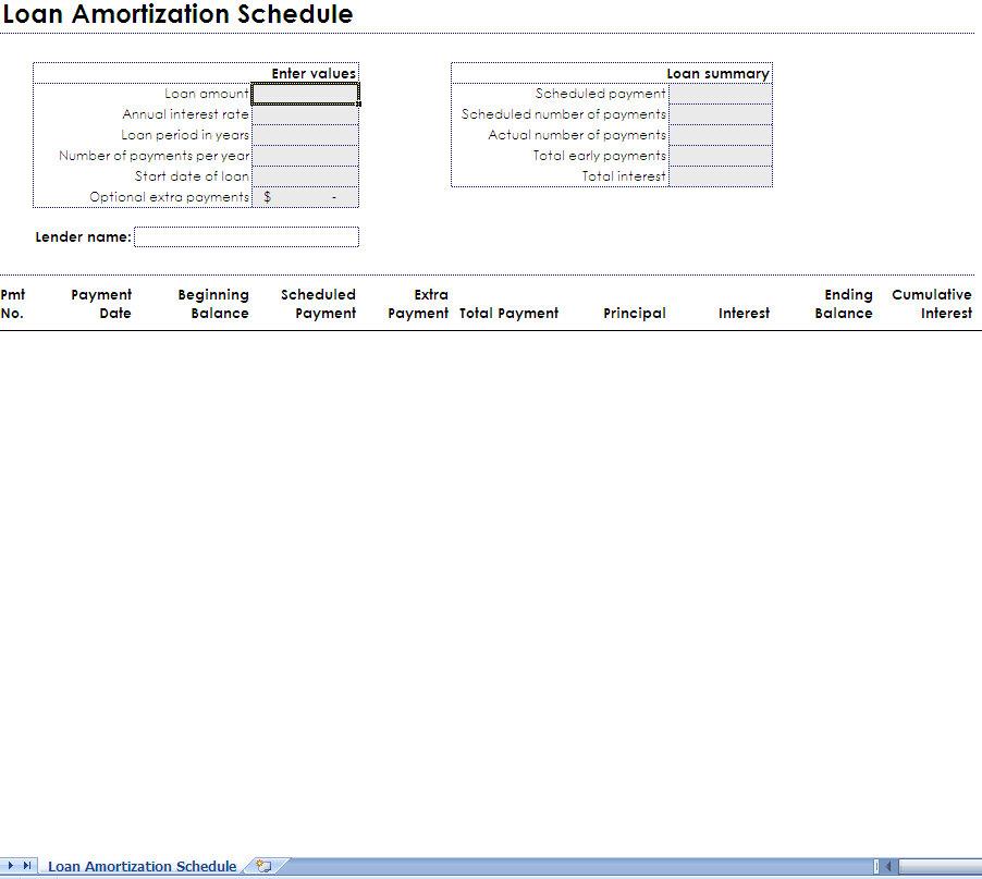 mortgage amortization excel download - Akbagreenw - Mortgage Amortization Template