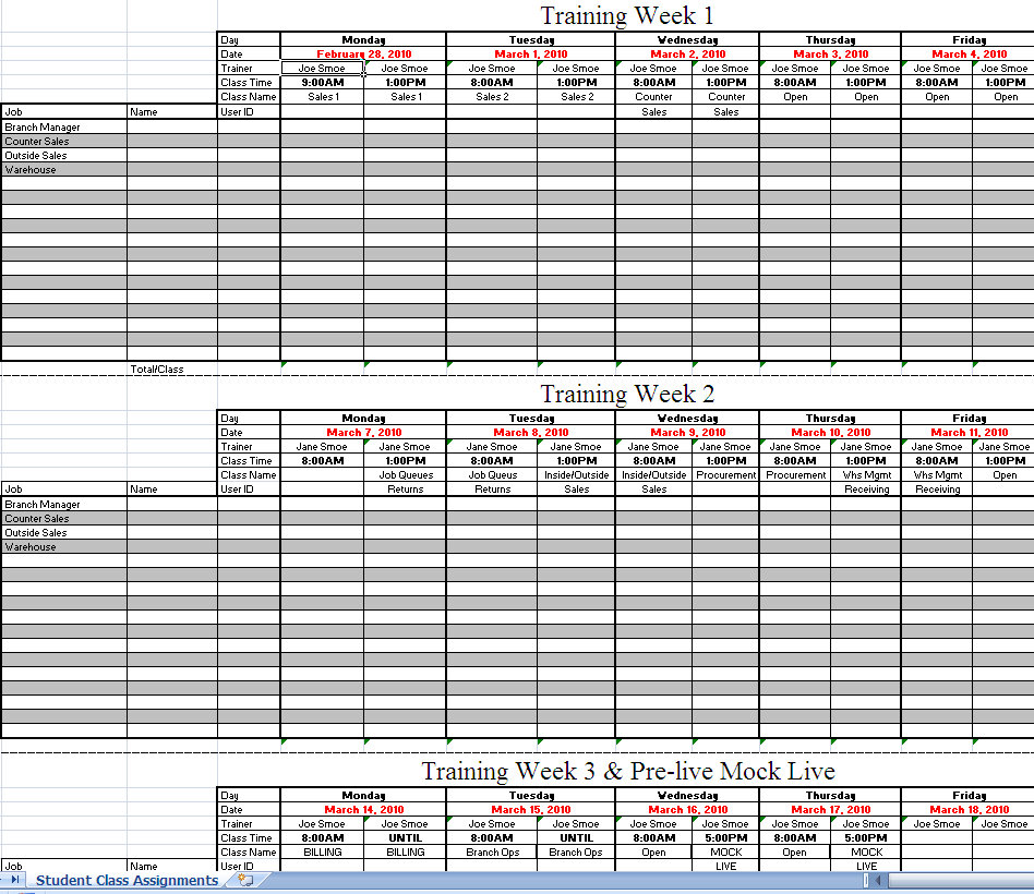 Excel Spreadsheet Workout Schedule EOUA Blog - workout program sheet