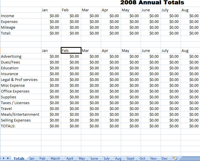 Expense Report Template For Excel Blank Expense Report