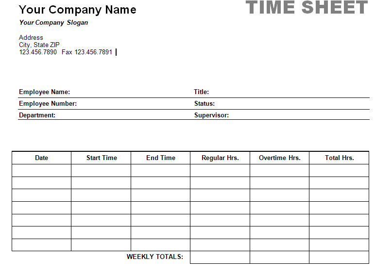 Printable Time Card Template printable time card template cards for - free blank time sheets