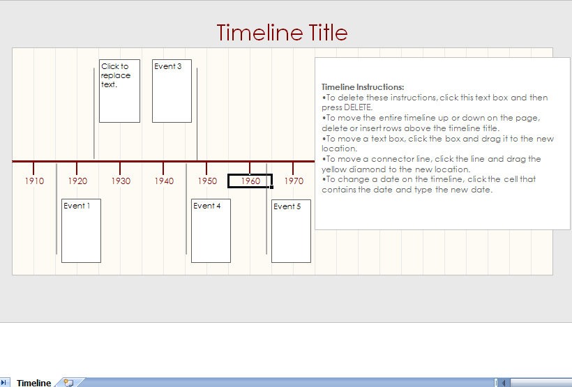 Microsoft Excel Timeline Template Microsoft Excel Timeline
