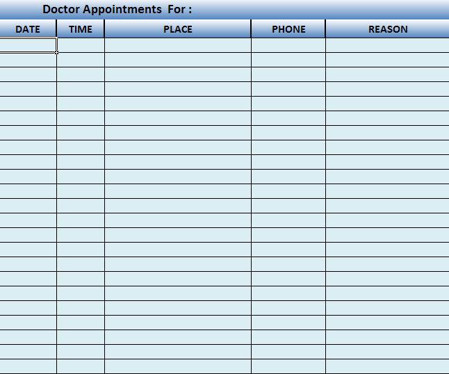 Appointment Calendar Templates New Calendar Template Site