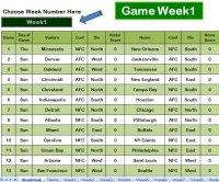 Football Pool Sheet Excel Template | Football Pool Sheet