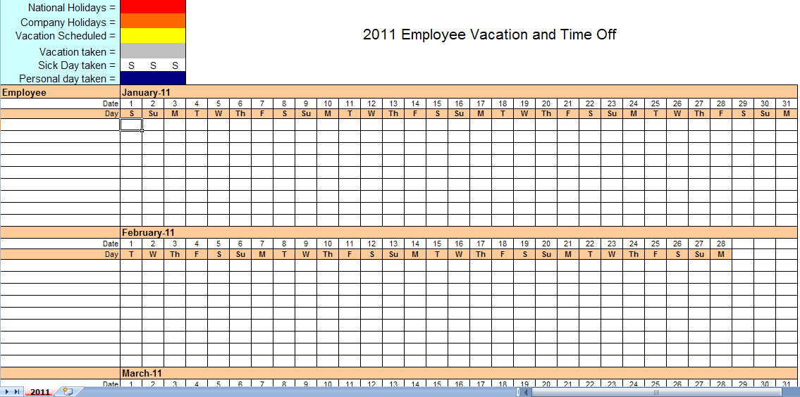 Work Schedule Template For Excel Vertex42 Downloadable Employee Schedule Template Calendar