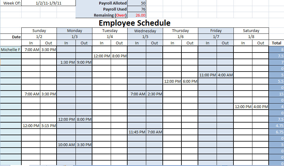 Excel Vacation Calendar Template 2011 | How To Make A Professional