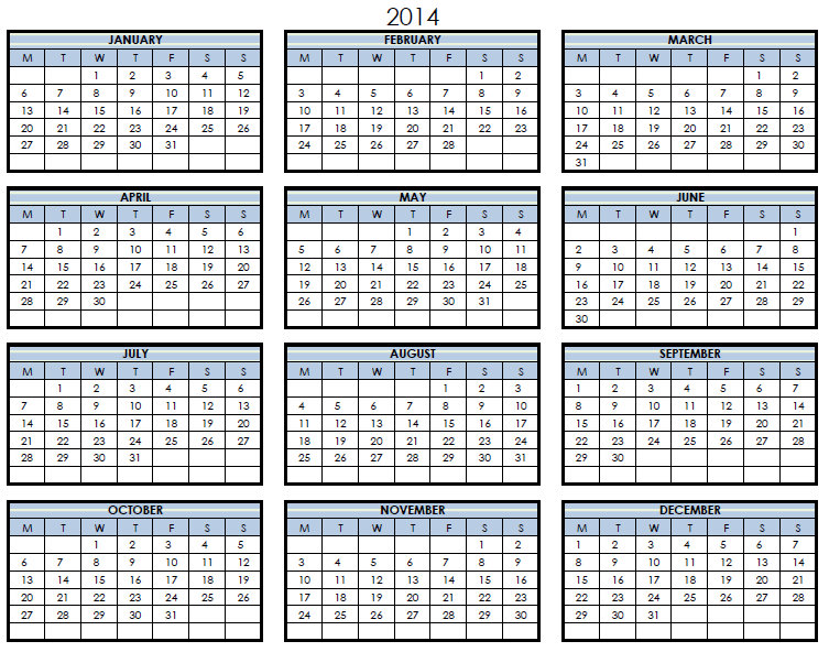 Pages Calendar Template 2014 Costumepartyrun
