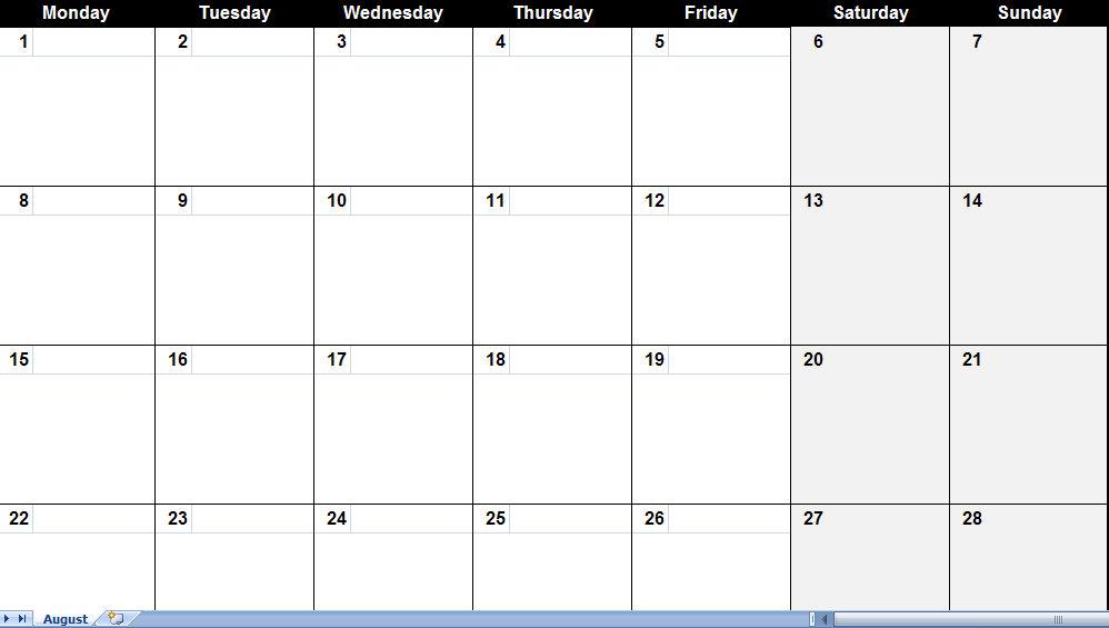 August 2011 Calendar August 2011 Calendar Printable