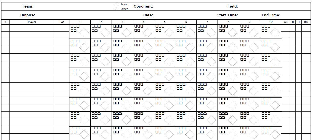 download baseball scorecard - Minimfagency - printable baseball score sheet with pitch count