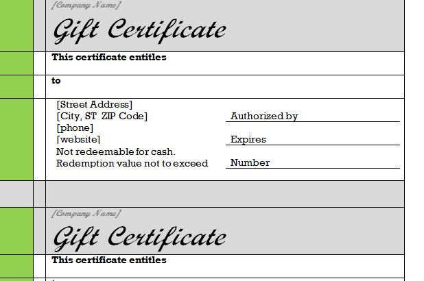 gift certificate template word - gift certificate template word 2003