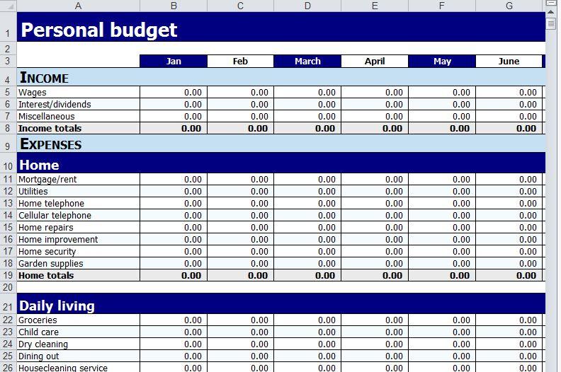 Personal Budget Worksheet Free Personal Budget Worksheet