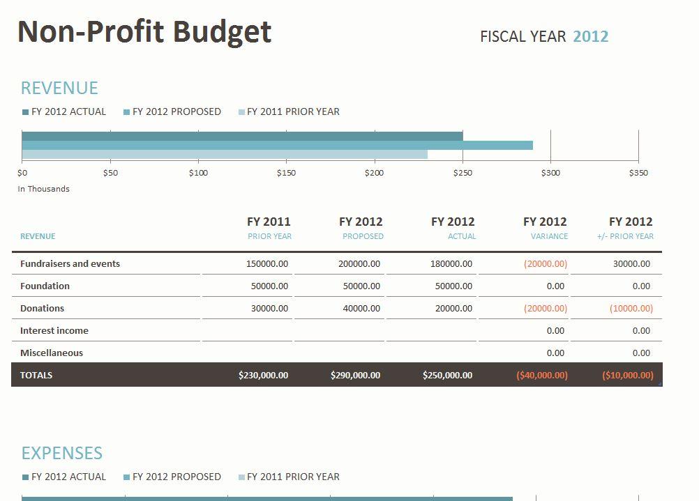 Non Profit Budget Template Non Profit Budget Spreadsheet