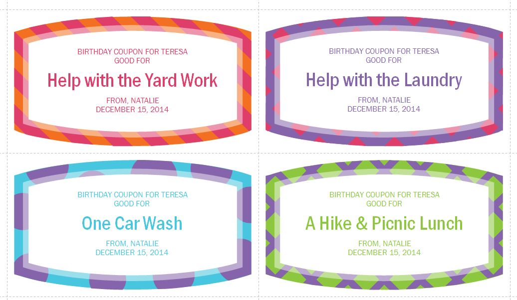 Birthday coupon template for word  Freebies journalism - microsoft word coupon templates