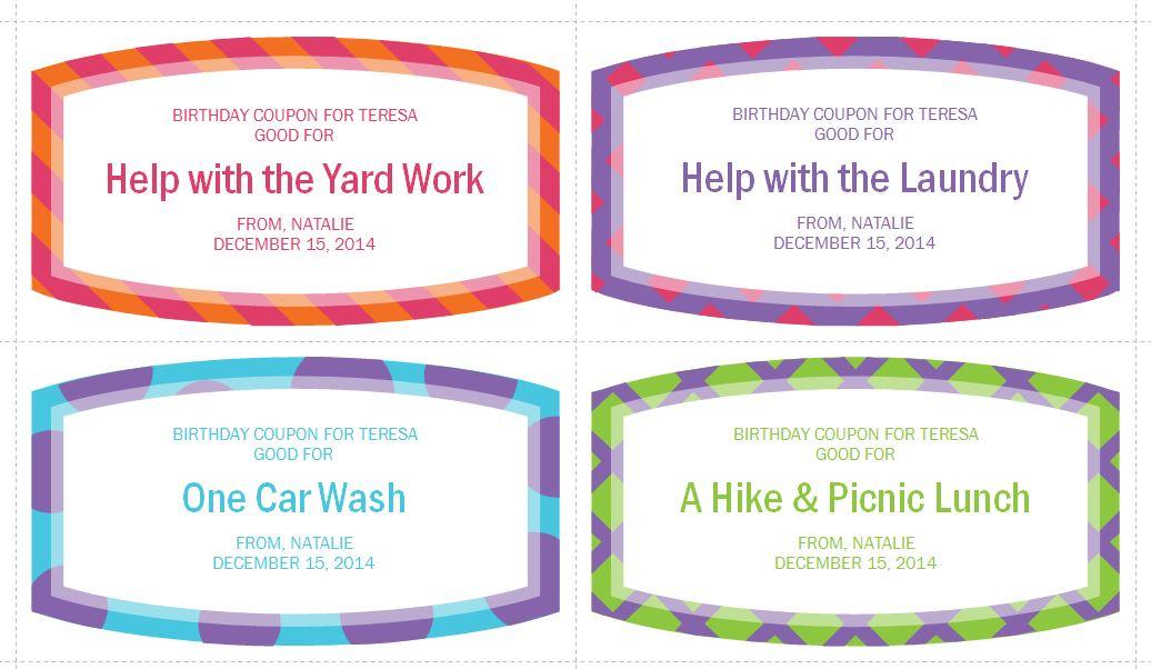 birthday coupon templates printable