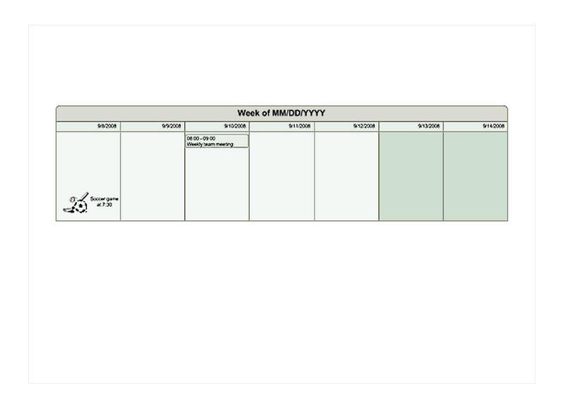 one week planner template - 28 images - one week calendar template - one week calendar template word