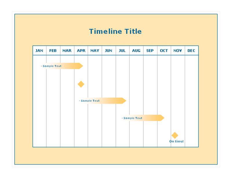 Work Timeline Template - career timeline template