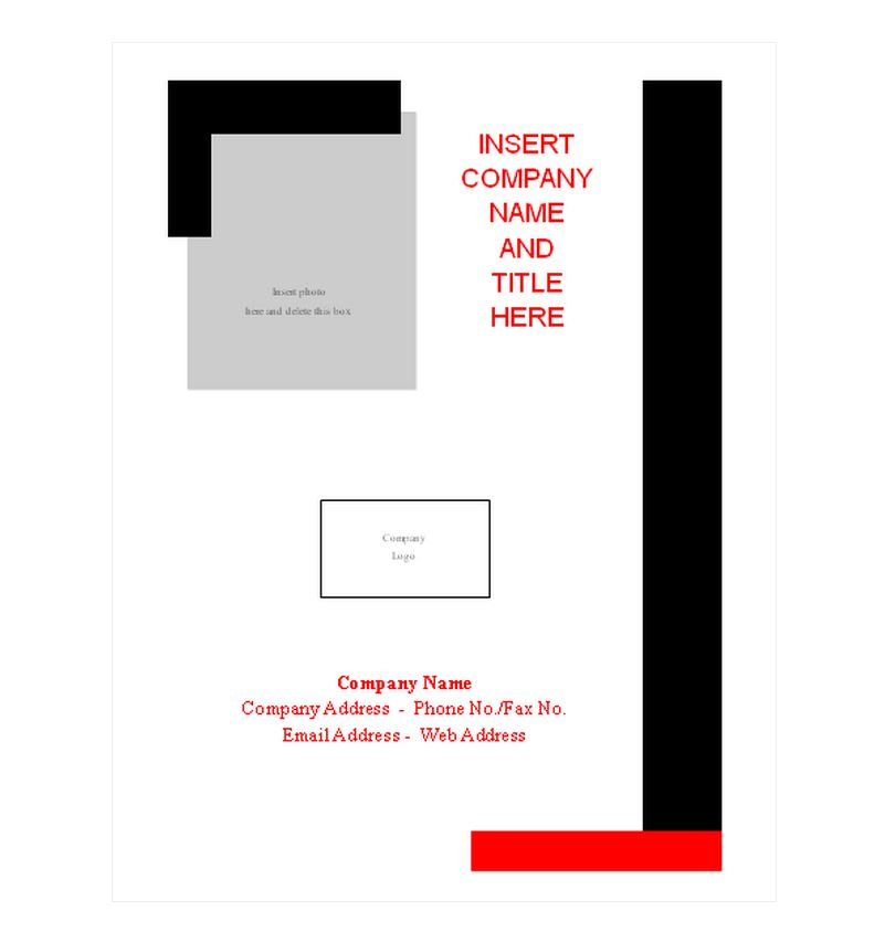 Report Cover Page Template Report Cover Page