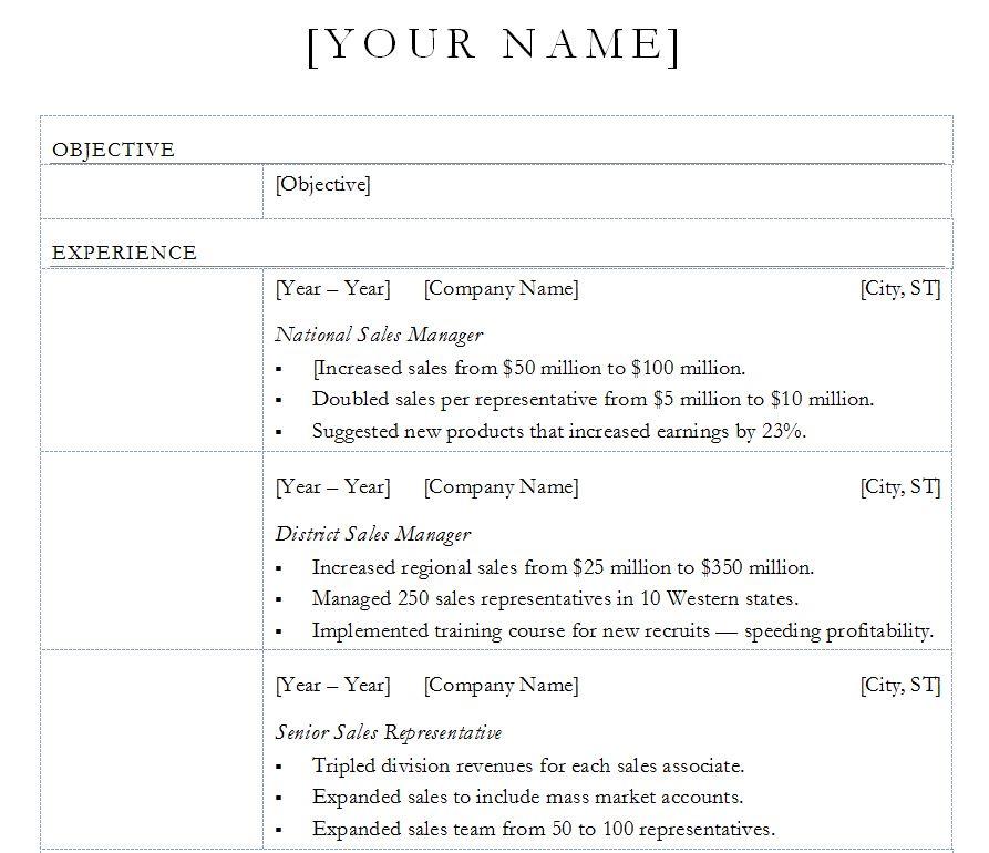 wps office resume template