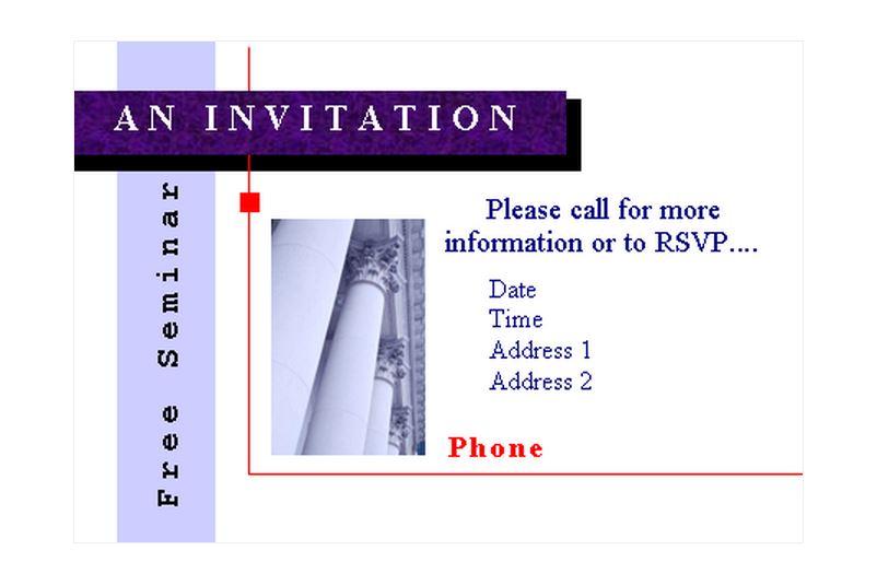 Seminar Invitations Seminar Invitation Template