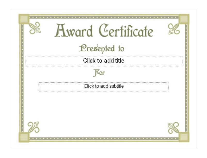 ... First Place Award Certificate Template   First Place Award Template ...