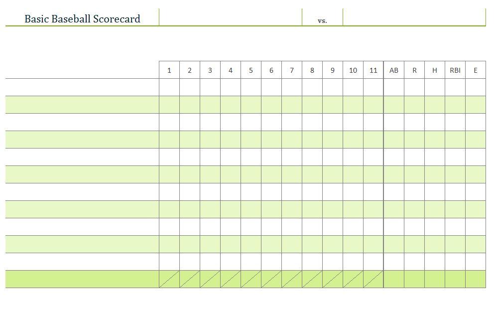 Baseball Scoring Sheet Scoring Sheet Baseball - baseball stats sheet template