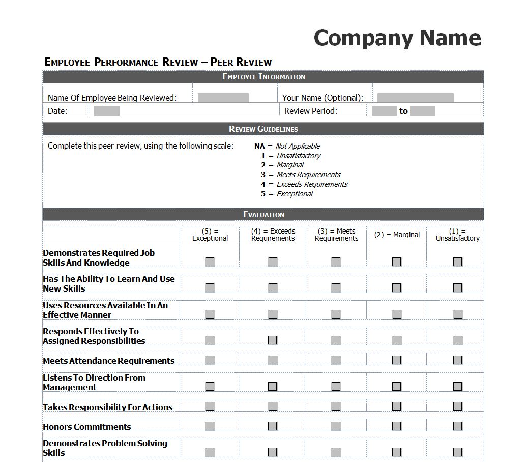 employee review forms pdf resume samples resume examples employee review forms pdf employee evaluation forms good leadership skills employee performance review checklist