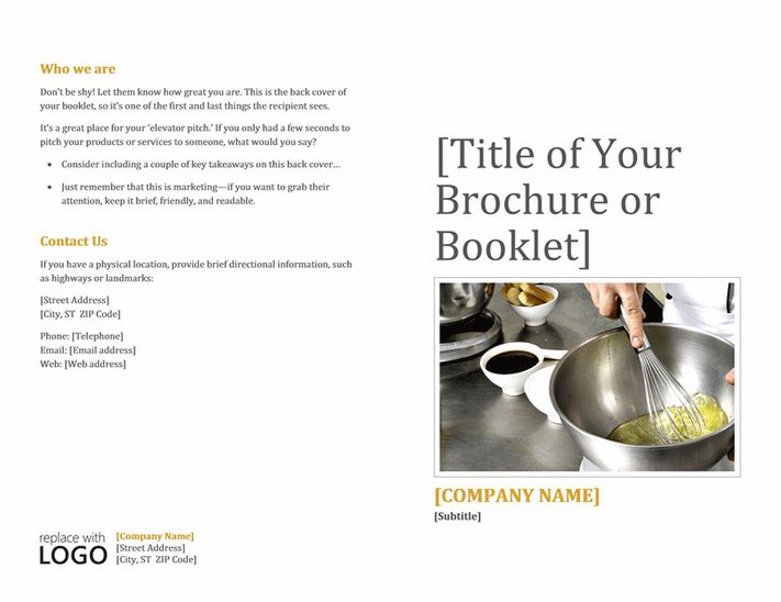 booklet template word hitecauto - brochure template word