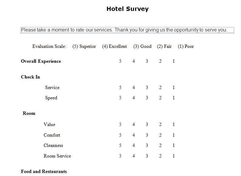 surveys templates