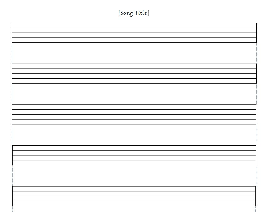 music staff paper template - Tomadaretodonate - music staff paper template