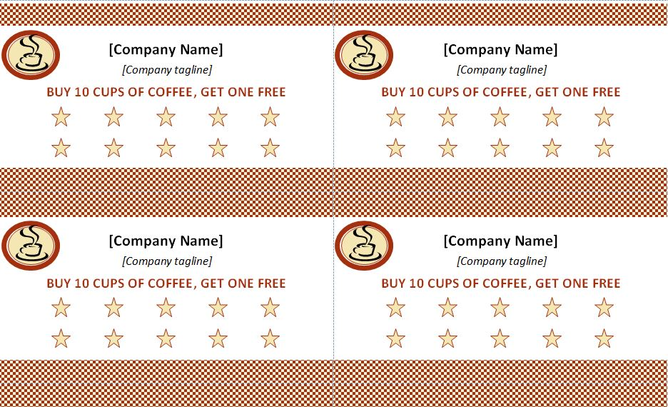 Punch Card Template Punch Card Template Free - free card templates for word