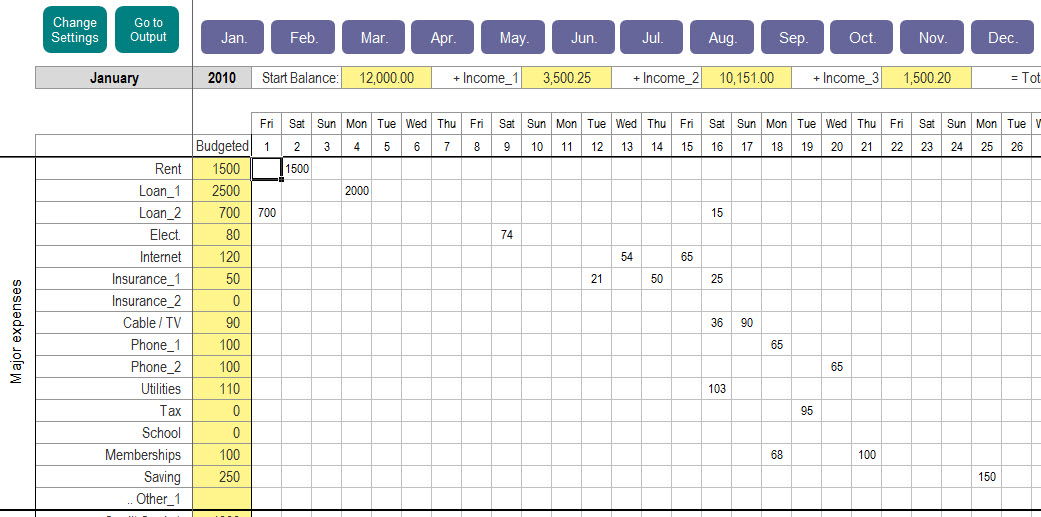 Excel Personal Expense Tracker - My Excel Templates