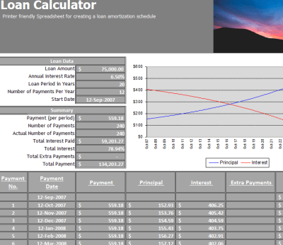 Student Loan Calculator - My Excel Templates