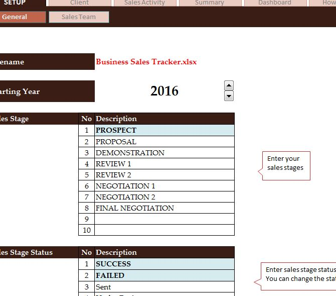 Business Sales Tracker - My Excel Templates