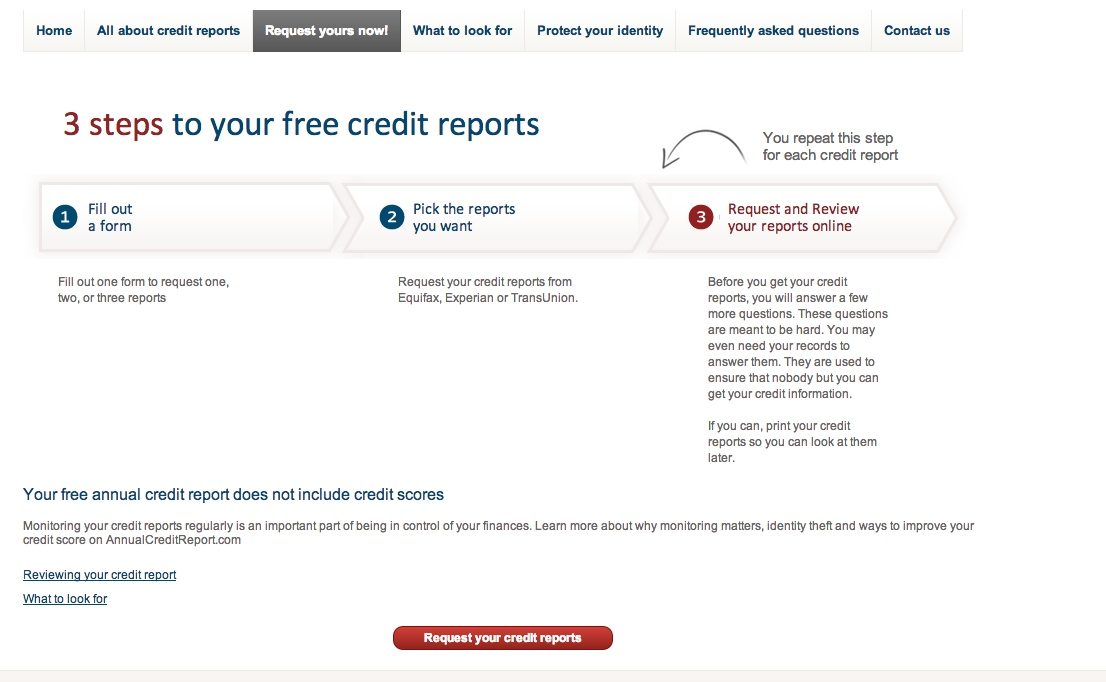 How to get your credit report totally FREE on AnnualCreditReport - annual credit report form
