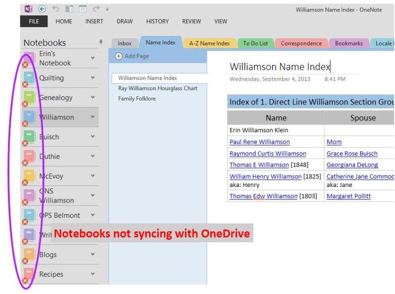 OneNote My Family History Files