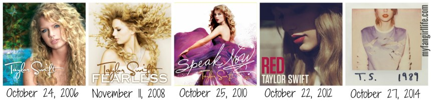Taylor Swift Album Release Dates