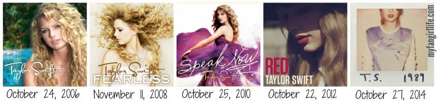 Taylor Swift Album Release Dates