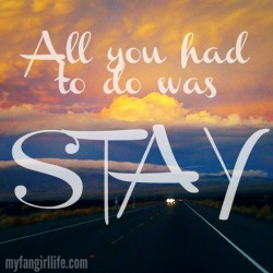 Taylor Swift 1989 Lyrics - All You Had To Do Was Stay 1