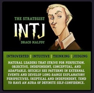Myers Briggs Harry Potter MBTI INTJ