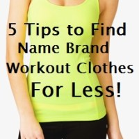 Workout Clothes for Less
