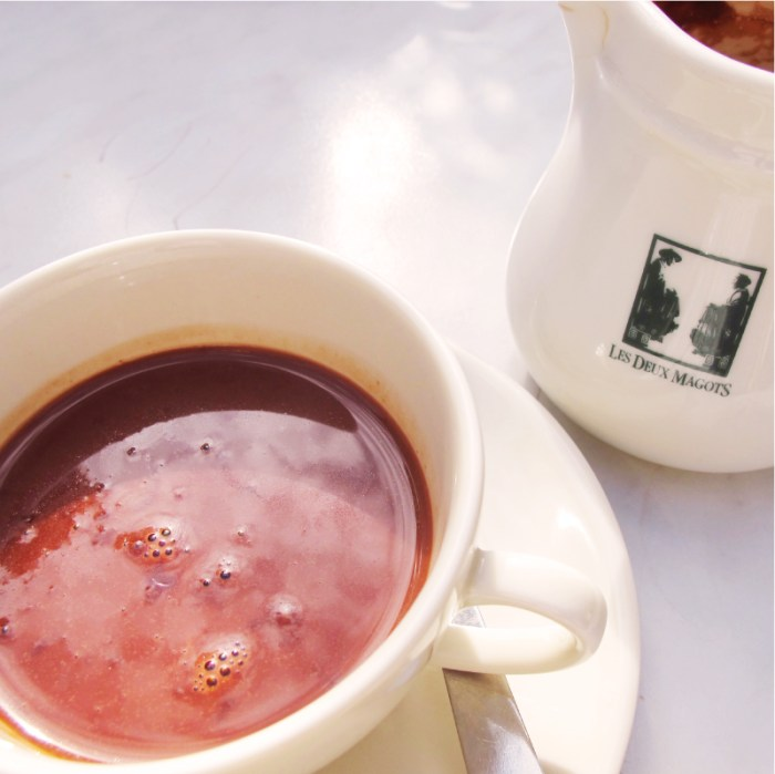 Hot Chocolate at the Deux Magots