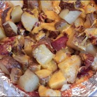 Cheese and Bacon Grilled Potatoes