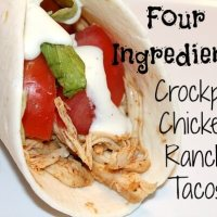 4 Ingredient Crockpot Chicken Ranch Taco Recipe