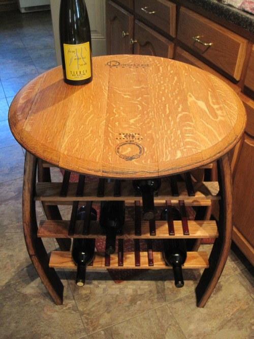 Medium Of Wine Barrel Table