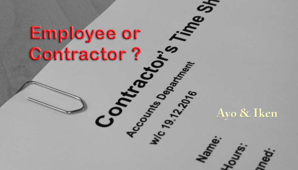 Independent Contractors vs Employees in Florida - Ayo and Iken - differences employee independent contractor