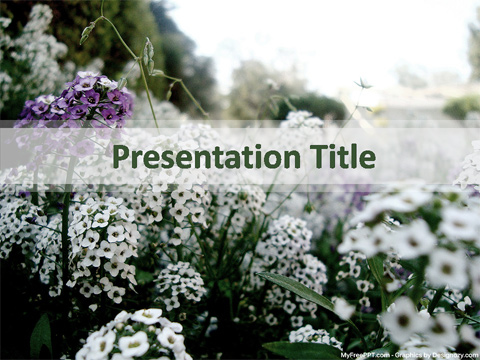 Free Funeral Background PowerPoint Template - Download Free