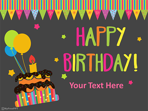 Free Happy Birthday PowerPoint Template - Download Free PowerPoint PPT