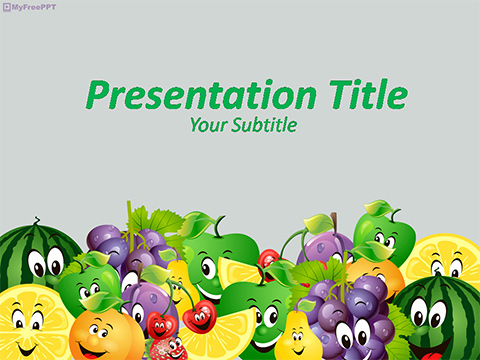 Free Cartoon Fruits PowerPoint Template - Download Free PowerPoint PPT